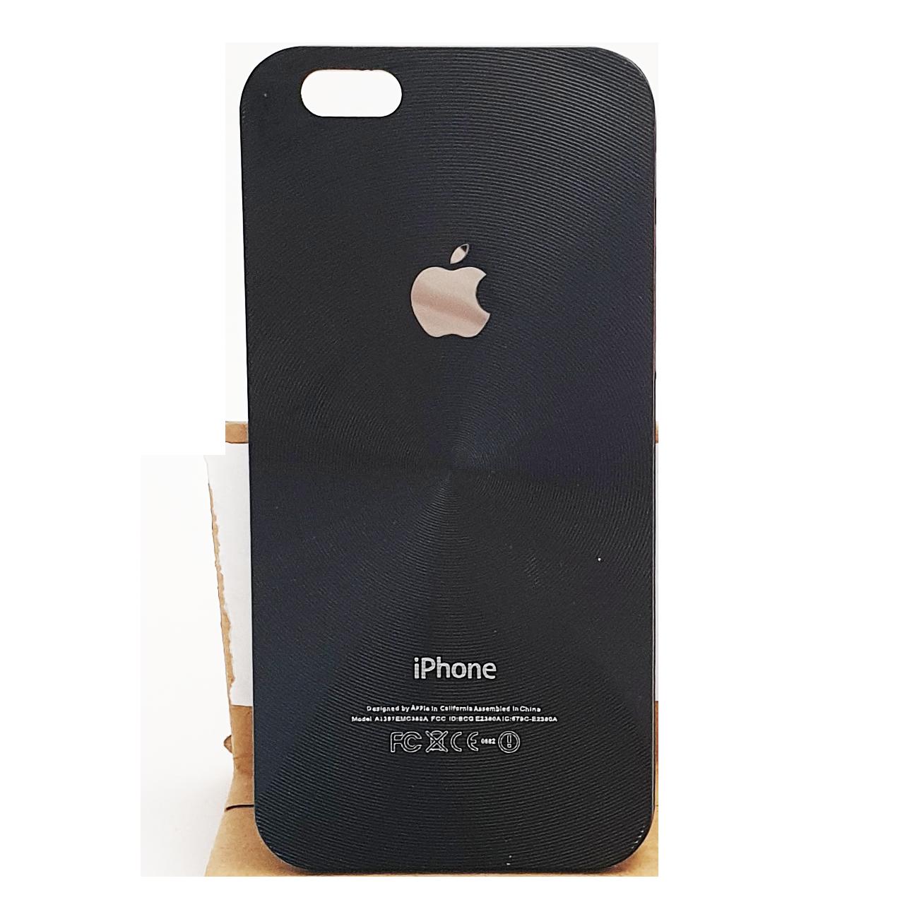 Mobilskal iPhone 6 / 6S Svart med skärmskydd