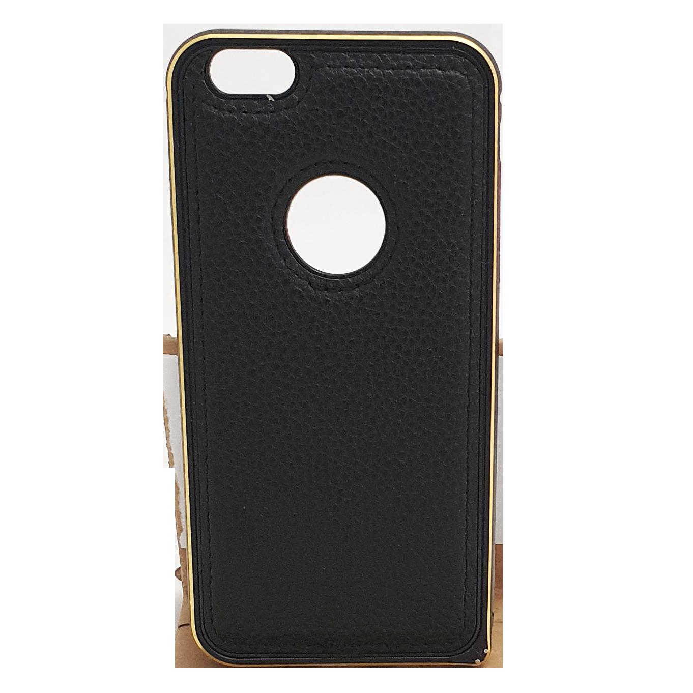 Mobilskal iPhone 6 / 6S Svart Guld och Läder