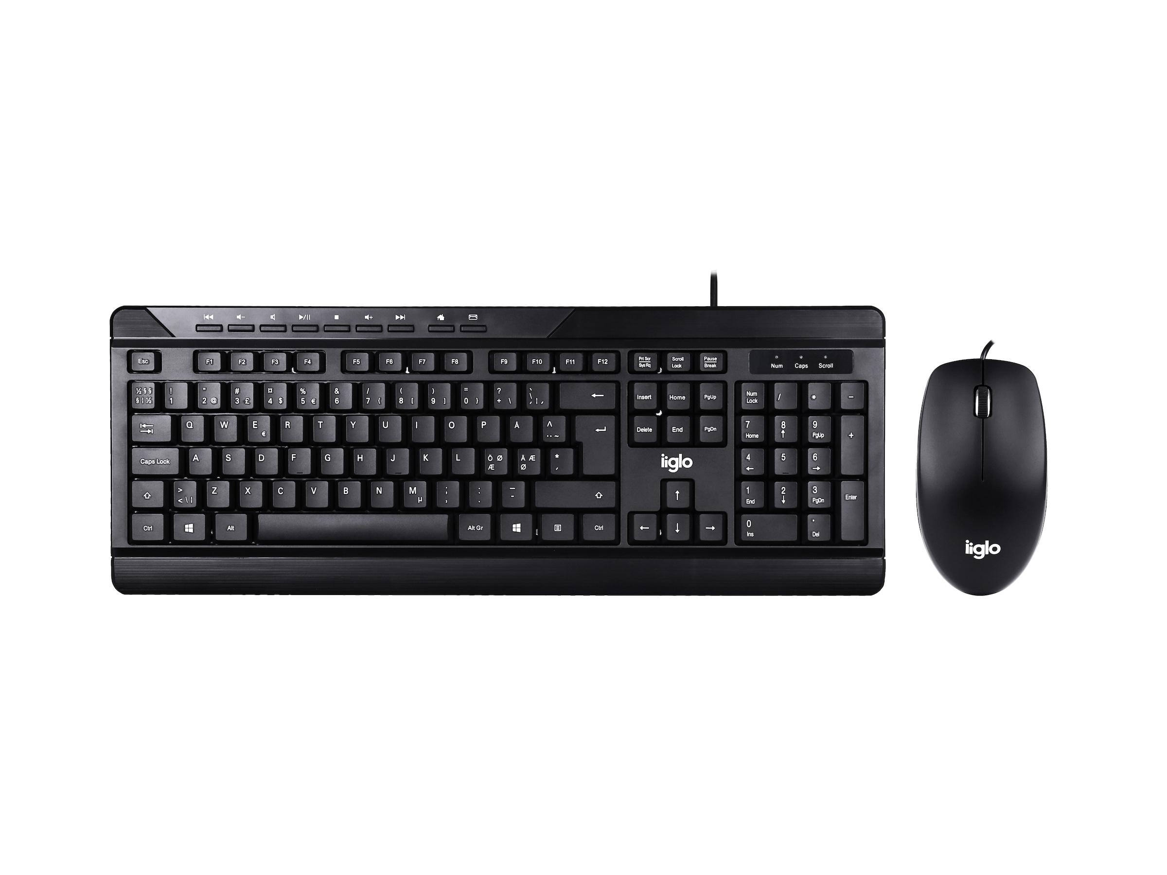 Mus och tangentbord paket iiglo mk210 - Svart