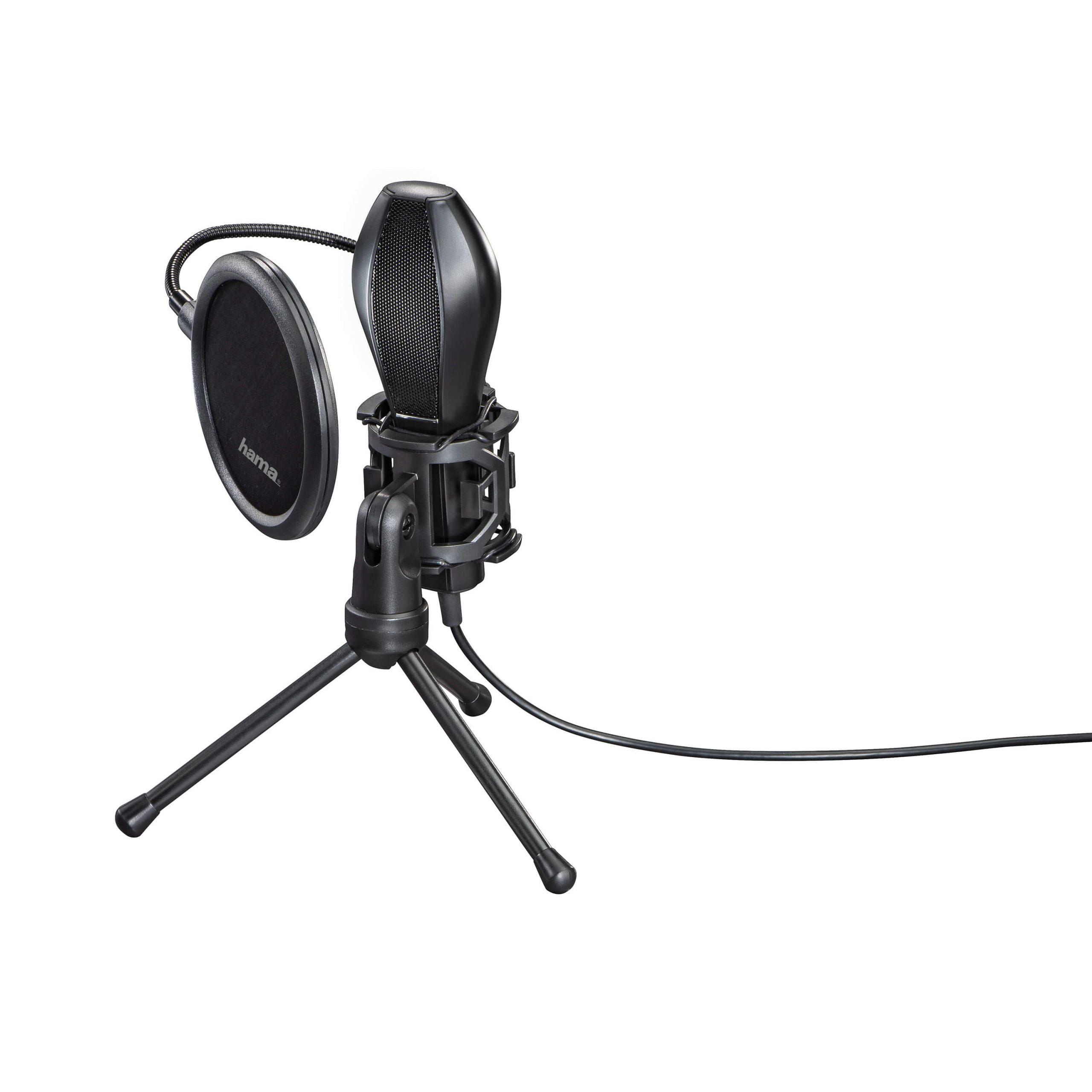 HAMA Streaming mikrofon USB Svart