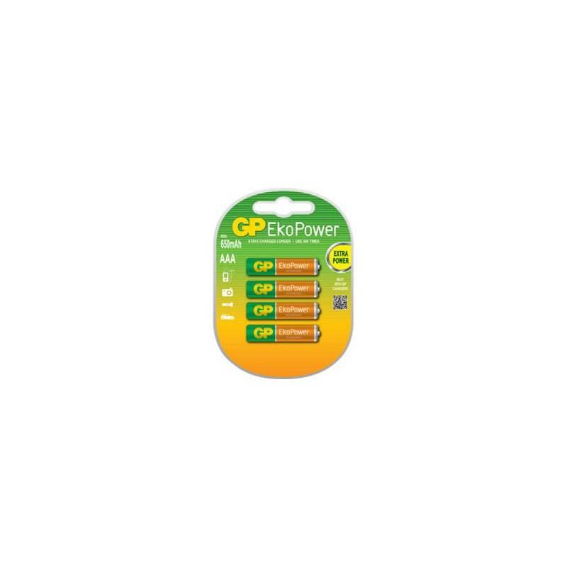 GP Batteri EkoPower AAA 650mAh 4-pack
