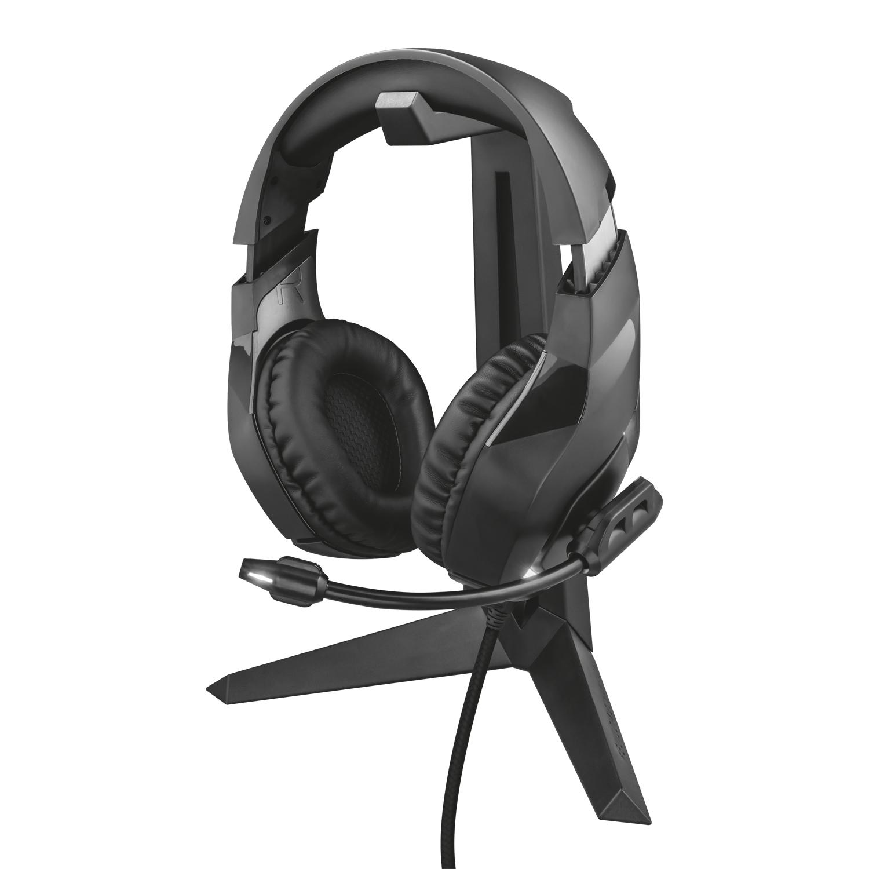 Universellt headsetstativ Trust GXT 260 Cendor Hörlursställ svart
