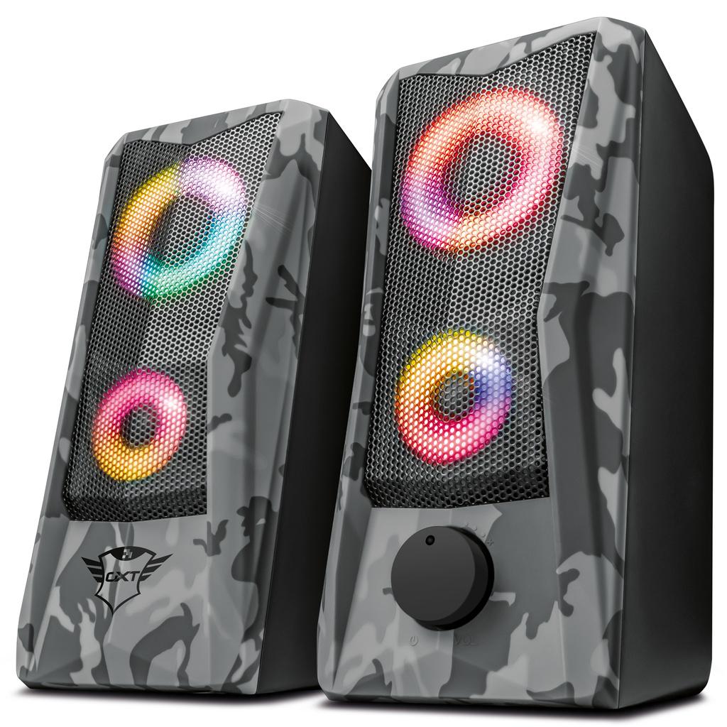 TRUST GXT 606 Javv RGB 2.0 Gaming Speakers - kamoflage