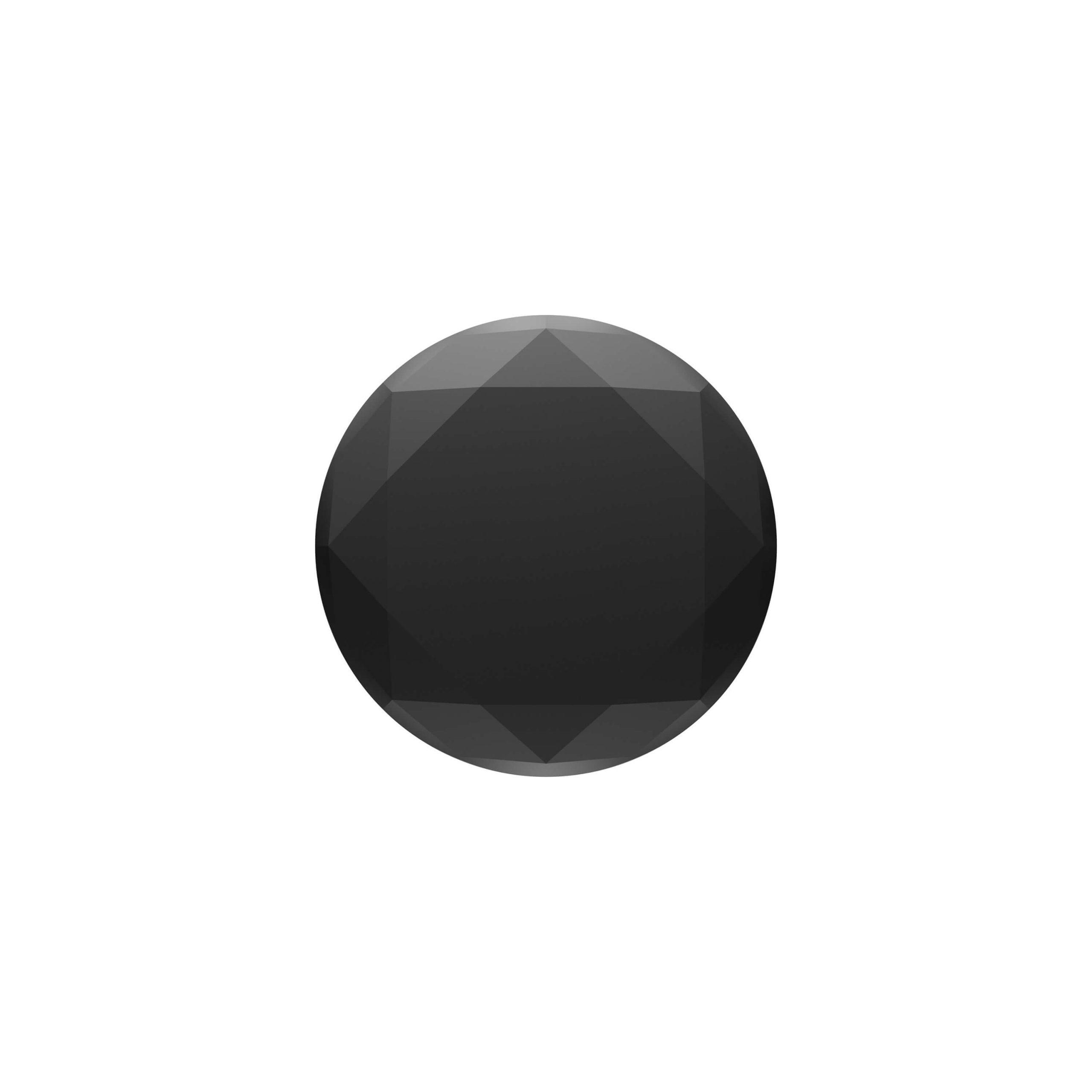 POPSOCKETS Metallic Diamond Black Avtagbart Grip med Ställfunktion Premium