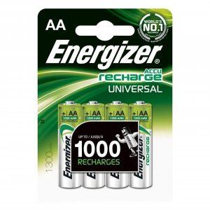 ENERGIZER Batteri AA/LR6 laddbart Ni-Mh 1300mAh 4-pack