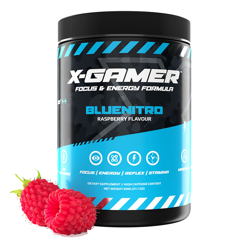 X-GAMER X-Tubz Bluenitro 600g - 60 portioner