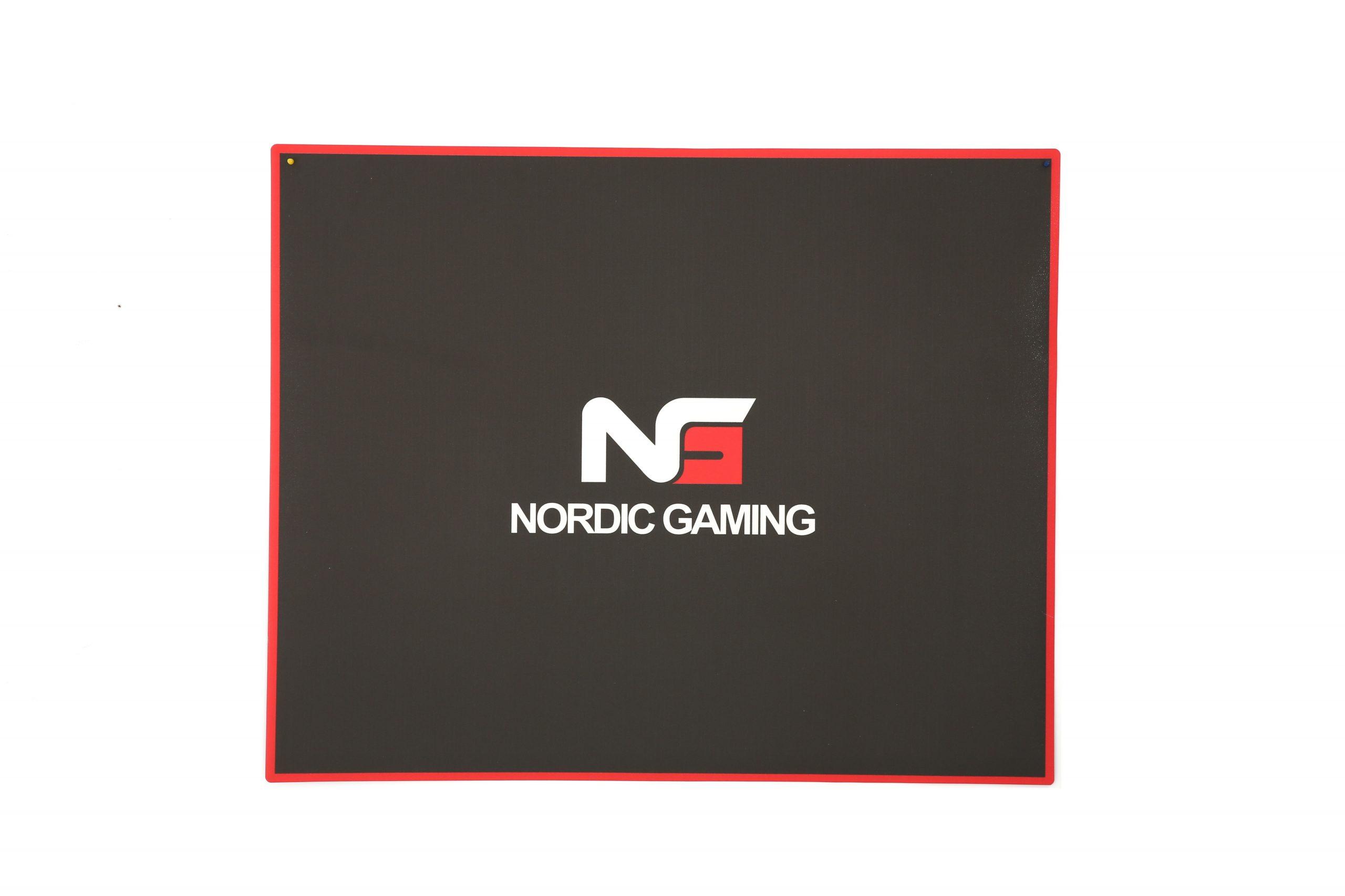 Nordic Gaming Guardian Golvmatta - Svart/röd