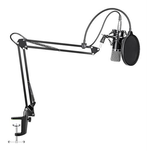 MAONO STREAMINGPAKET, 3.5 mm Mikrofon, Mikrofonarm, POP-FILTER - SVART