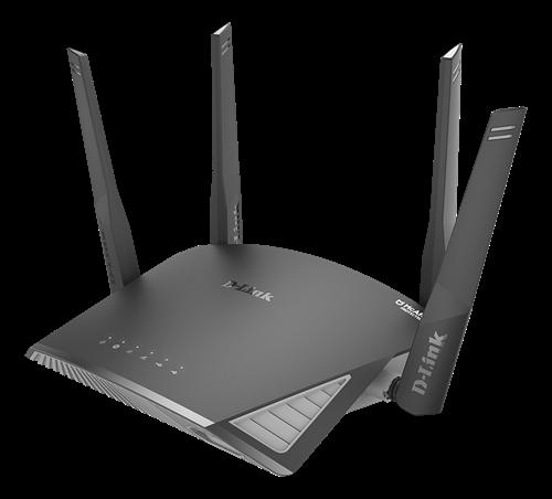 D-Link EXO AC2600 Smart Mesh Wi-Fi Router, 2,4 / 5 GHz, 802.11ac, 1xUSB 3.0, 1xUSB 2.0, svart