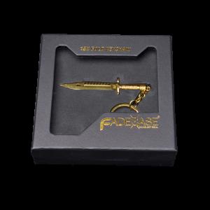 FadeCase nyckelring 18K guld - M9 Bayonet