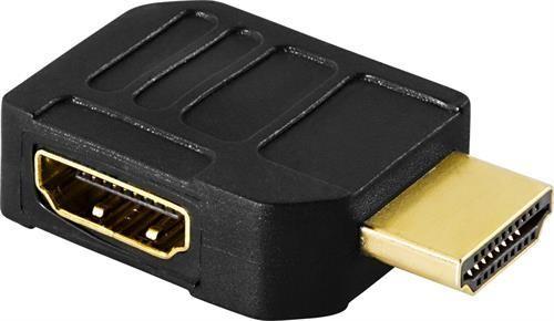 HDMI-adapter, 19-pin hane till hona, vinklad, guldpläterad