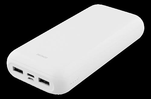 DELTACO 20 000 mAh Powerbank - USB-C - USB A