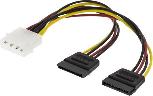 DELTACO Y-strömkabel för 2xSerial SATA hårddiskar