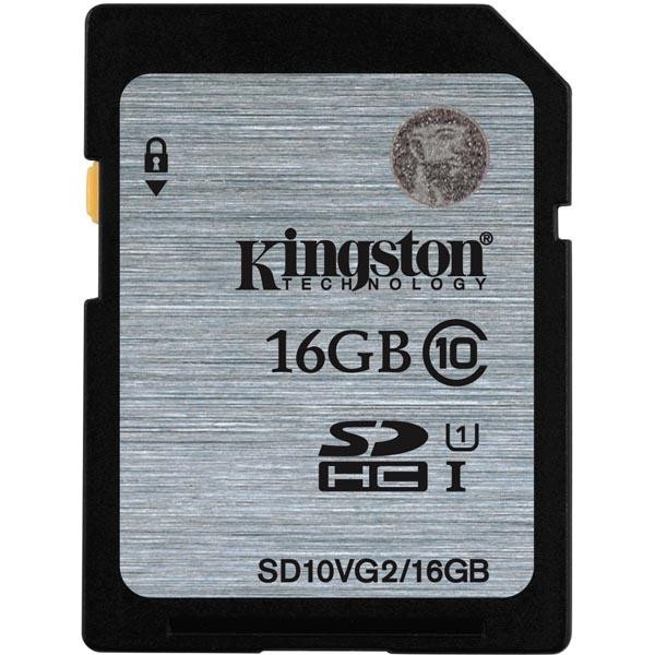 Kingston minneskort, SDHC, 16GB, UHS-I Class 10, 45MB/s