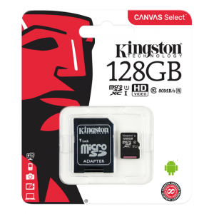 128 GB Kingston Canvas Select Class 10