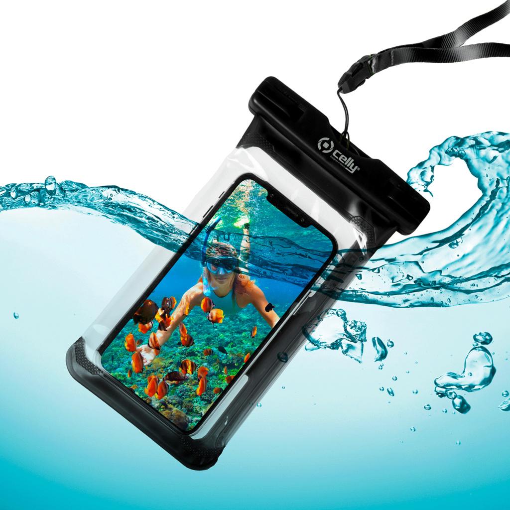 Vattentät bag IPX8 iPhone Svart