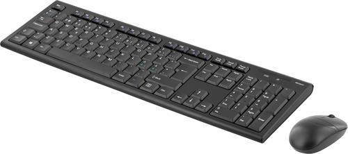 DELTACO trådlöst tangentbord och mus, Nordiskt - svart
