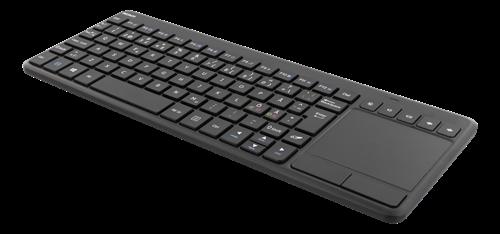 DELTACO Trådlöst mini Tangentbord med touchpad - Nordiskt