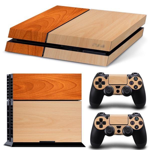 PS4 Skin med trä illustration