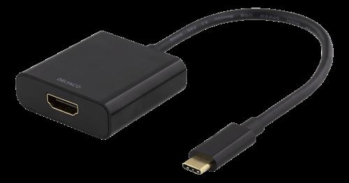 USB-C till HDMI adapter, 4096x2160 30Hz - Svart