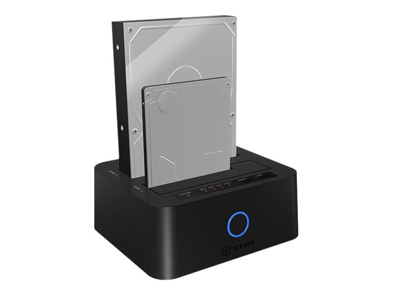 ICY BOX 2-Fack Dockningsstation 2,5