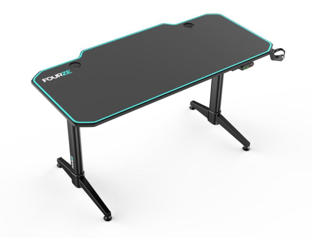 Fourze Elektriskt höj/sänk Gaming Skrivbord bordsmatta - Svart