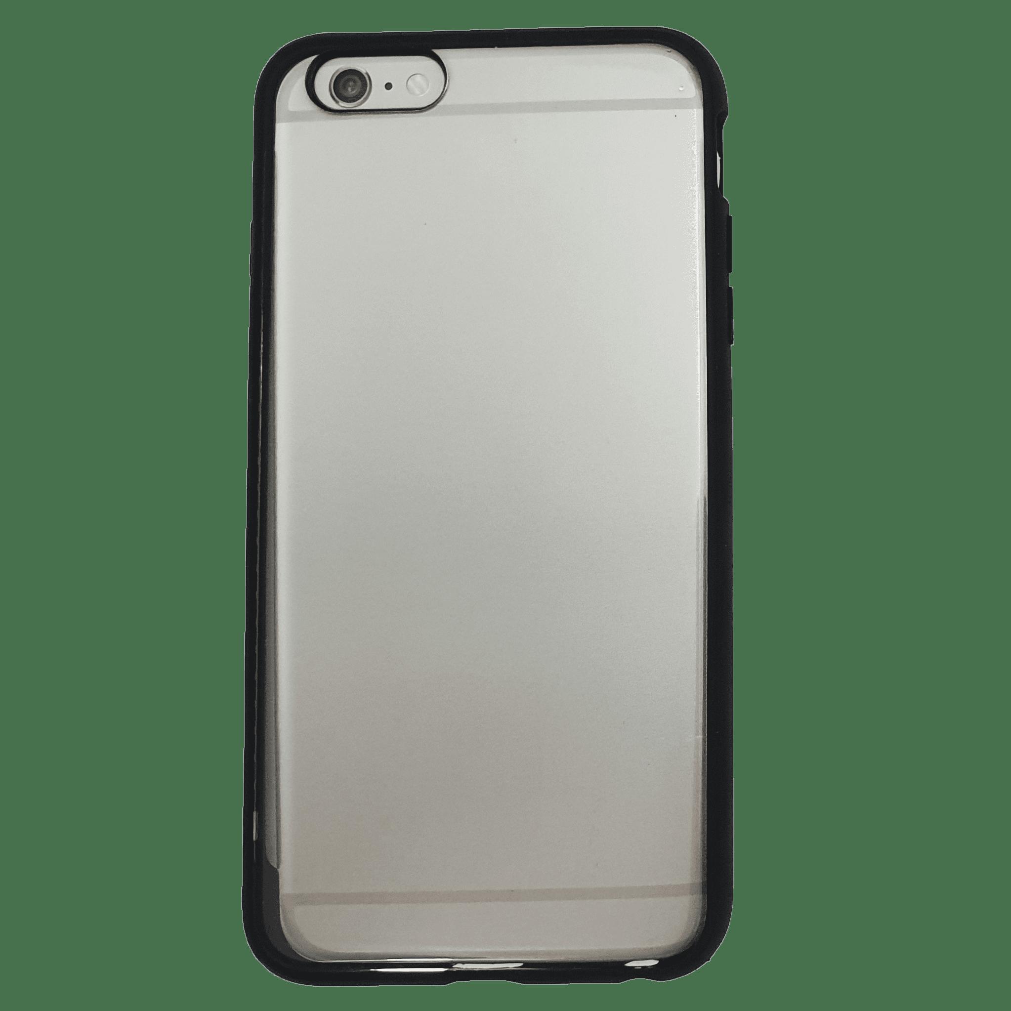 Mobilskal iPhone 6+ Genomskinligt Svart kant