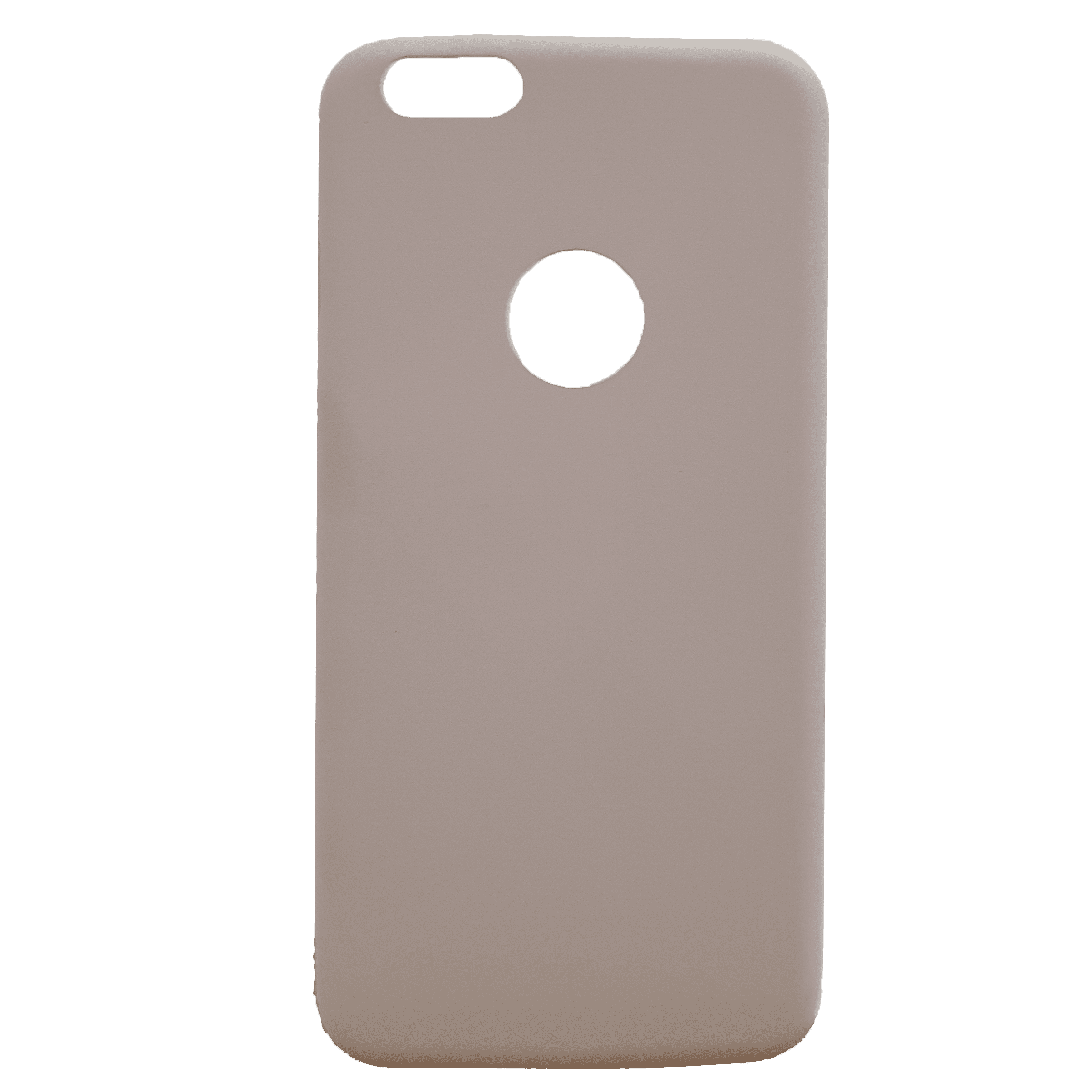 Mobilskal iPhone 6+ blek rosa, hål för logo