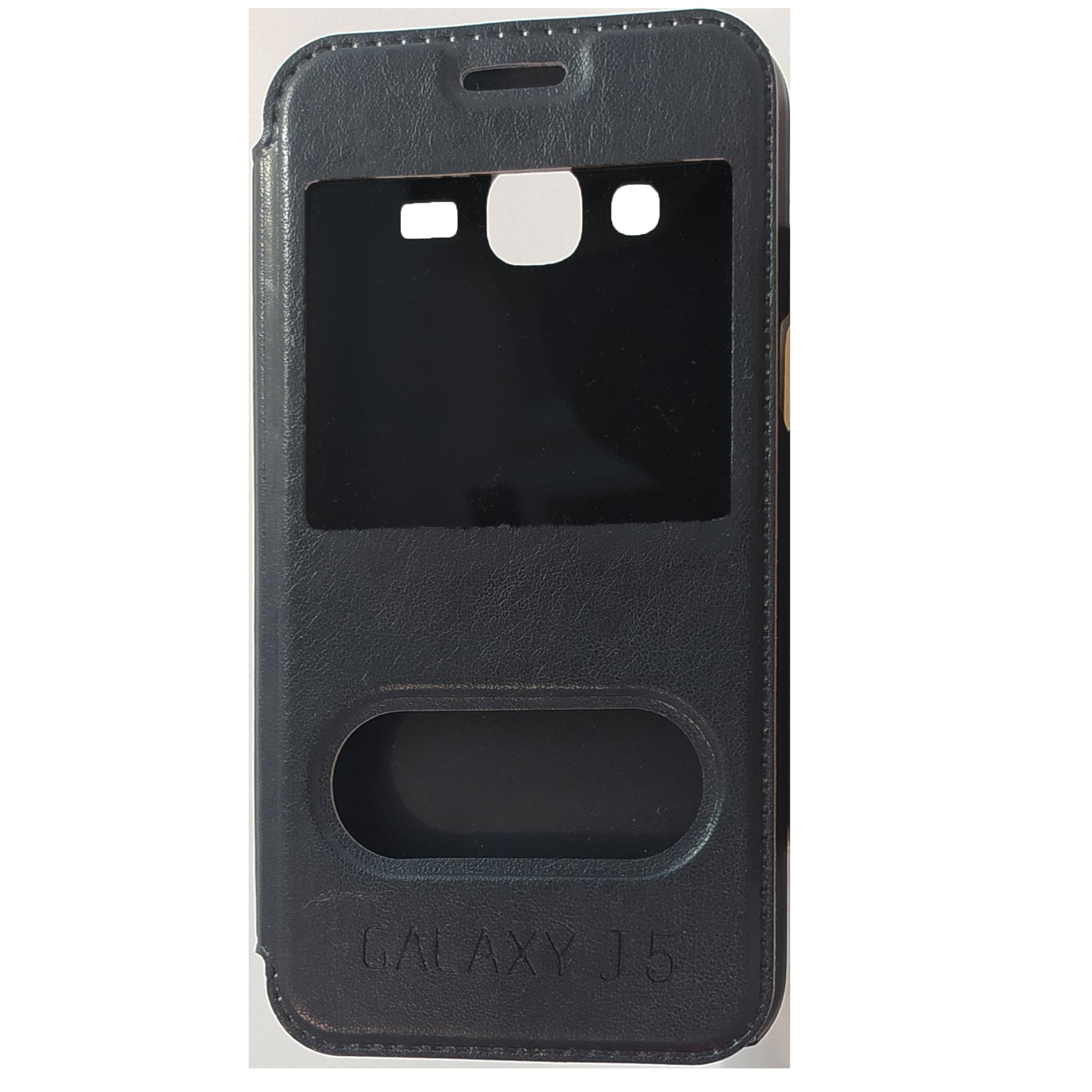 Mobilfodral Samsung Galaxy J5 Svart Konstläder